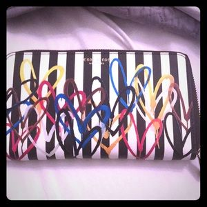 Henri Bendel large zip wallet brand new with tags